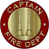 Fire Department Captian Collar Brass