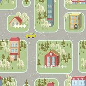 Street Illustration Seamless Pattern