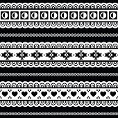 Seamless tribal pattern, aztec black and white background