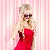 picture of rockabilly  - Beautiful young blond pin - JPG