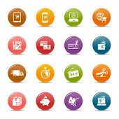 Colored Dots - Online Shopping icons