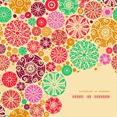 Abstract decorative circles corner pattern background