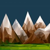 Mountainous terrain, polygonal background
