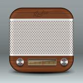 Icono de la aplicación de radio retro