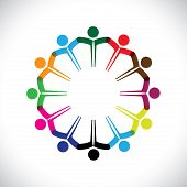 foto of diversity  - Concept vector graphic - JPG