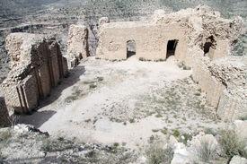 image of zoroastrianism  - Inner yard of zoroastrian temple Qal - JPG