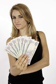Blonde Girl Won Cash