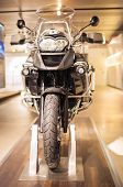 MUNICH, GERMANY - JUNE 17, 2012: Bmw R 1150 Gs Enduro Class Motorcycle Front View Shown In Bmw Museu