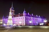 Royal Palace Decorated For Christmas, Warsaw