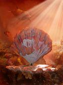 Meerjungfrau-Hintergrund