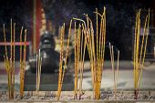 Incense Sticks Burning At A Taoist Temple Of Wong Tai Sin, Hong Kong.