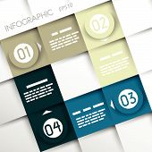 Modern style step banner - Vector illustration - for workflow layout, diagram, number options, step