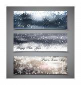 Abstract Winter background.Christma s abstract bokeh. Vector