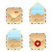 Vector envelope icon set