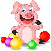 Cute Piglet Cartoon
