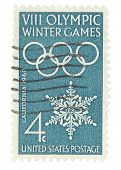 United State Stamp of the 8th Winter Olympics
