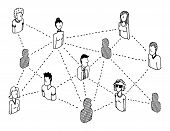 Social Network Connecting or People Relations