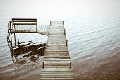 Wooden Dock leading into the water