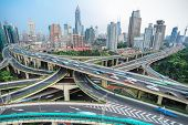 Shanghai Elevated Road Junction And Interchange Overpass