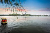 The West Lake Of Hangzhou In Sunset