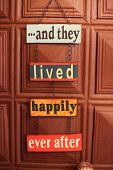 ...and they lived happily ever after door sign on chain