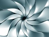 Silver abstract windmill background 3d illustration