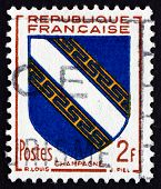 Postage Stamp France 1953 Arms Of Champagne