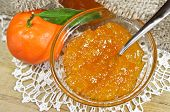 Homemade tangerine jam or marmalade