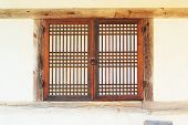 Old Wooden Window At The South Korea.