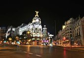 Gran Via Street, Madrid.
