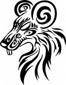 Capricorn Astrology sign Vector zodiac