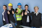 Engineer Team Giving Thumbs Up