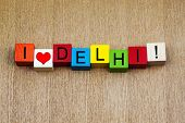 I Love Delhi, Sign for Countries and Travel