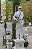 Man In White, Living Statue
