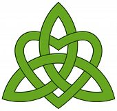Celtic Trinity knot (Triquetra) with a heart