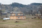 image of zakarpattia  - Ukrainian village lifestyle in the Carpathian mountains - JPG