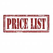 Price List-stamp
