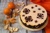 Mandarin Souffle Cake