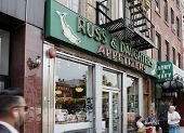NEW YORK CITY, USA - JUNE 12: Russ & Daughters is a famous appetizing store opened in 1914. It is located at 179. E. Houston Street, on New York's Lower East Side. June 12, 2012 in New York City, USA