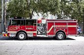 Modern Charleston Fire Department Truck