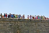 People Watch Historical Weapons Demonstration In  Castillo De San Marco