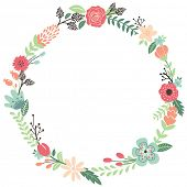 picture of card-making  - Vintage Flowers Wreath - JPG