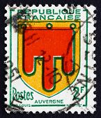 Postage Stamp France 1949 Arms Of Auvergne