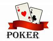 Poker emblem with cards