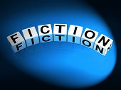 Fiction Dice Show Fictional Tale Narrative Or Novel