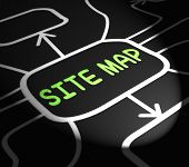 Site Map Arrows Means Navigating Around Website