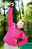 Mongolian Woman During Morning Jogging