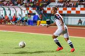Sisaket Thailand-may 28: Therdsak Chaiman Of Chonburi Fc. In Action During Thai Premier League Betwe