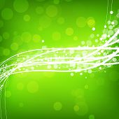 Abstract Green Background With Wave