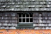 The Window In A Tile Und Brick Wall
